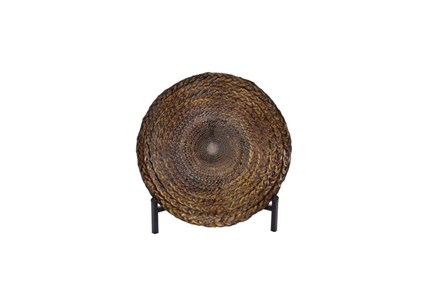 16 Inch Braided Metal Bowl On A Stand - Main