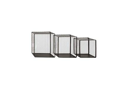 3 Piece Set Metal Wire Wall Bskt - Main