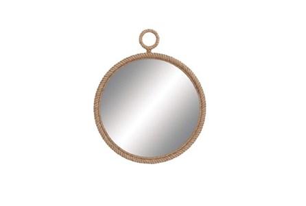 36 Inch Wood Pier Rope Mirror