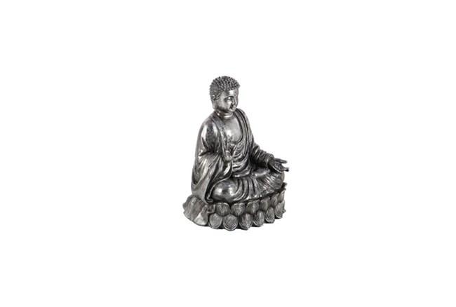 9 Inch Silver Stone Buddha - 360