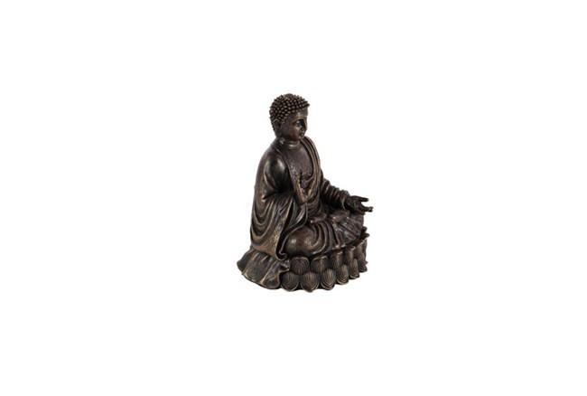 9 Inch Burnished Stone Buddha - 360
