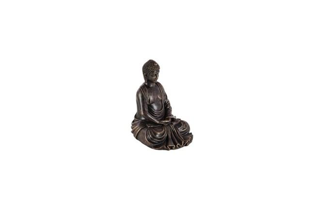 8 Inch Burnished Stone Buddha - 360