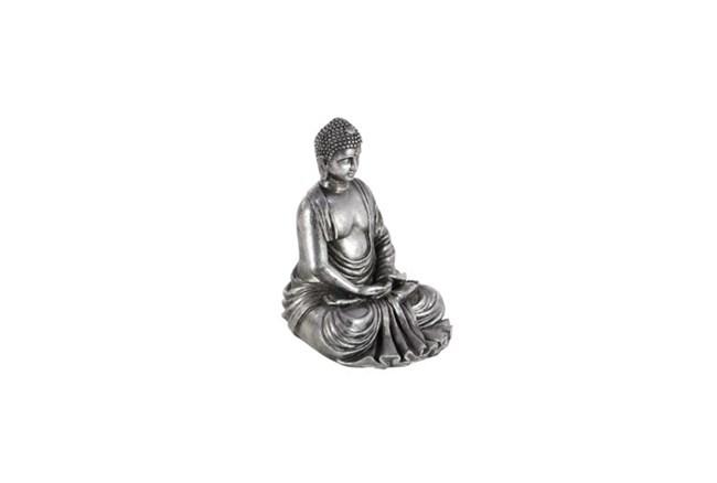 8 Inch Silver Stone Buddha - 360