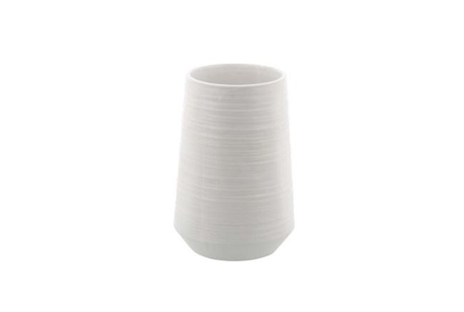 7 Inch White Porcelain Vase - 360