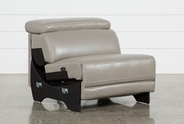 Thatcher Grey Leather Armless Power Recliner