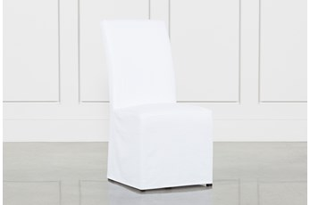 Pearson White Slipcovered Dining Side Chair