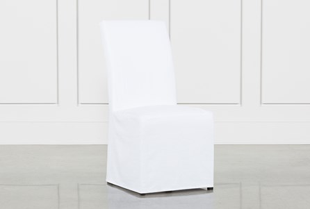 Pearson White Slipcovered Side Chair