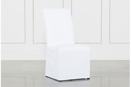 Pearson White Slipcovered Side Chair - Main