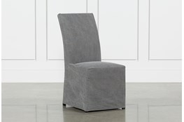 Pearson Grey Slipcovered Side Chair
