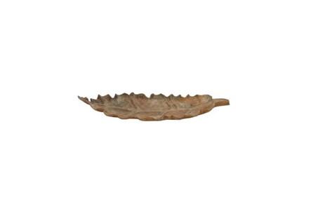36 Inch Teak Leaf Tray