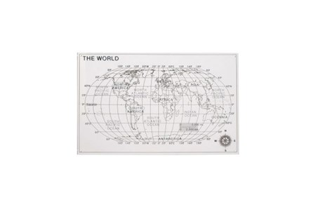 25 Inch Acrylic Map Wall Decor