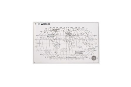 25 Inch Acrylic Map Wall Decor - Main