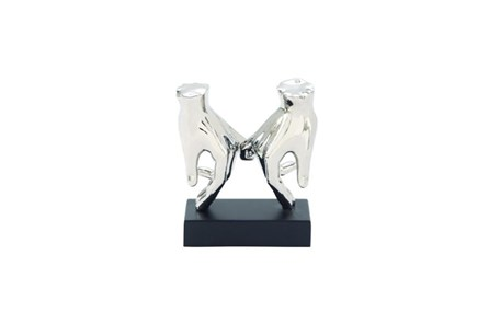 8 Inch Silver Hands Sculpture - Main