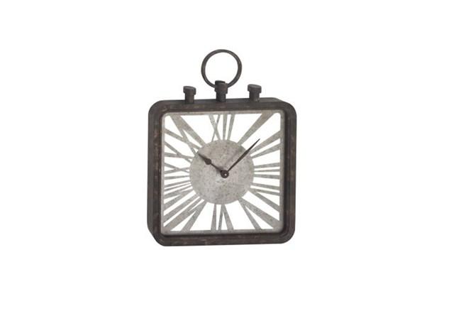 27 Inch Grey Mix Media Wall Clock - 360
