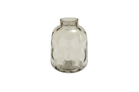 11 Inch Smoke Glass Vase