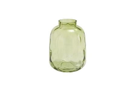 11 Inch Green Glass Vase - Main