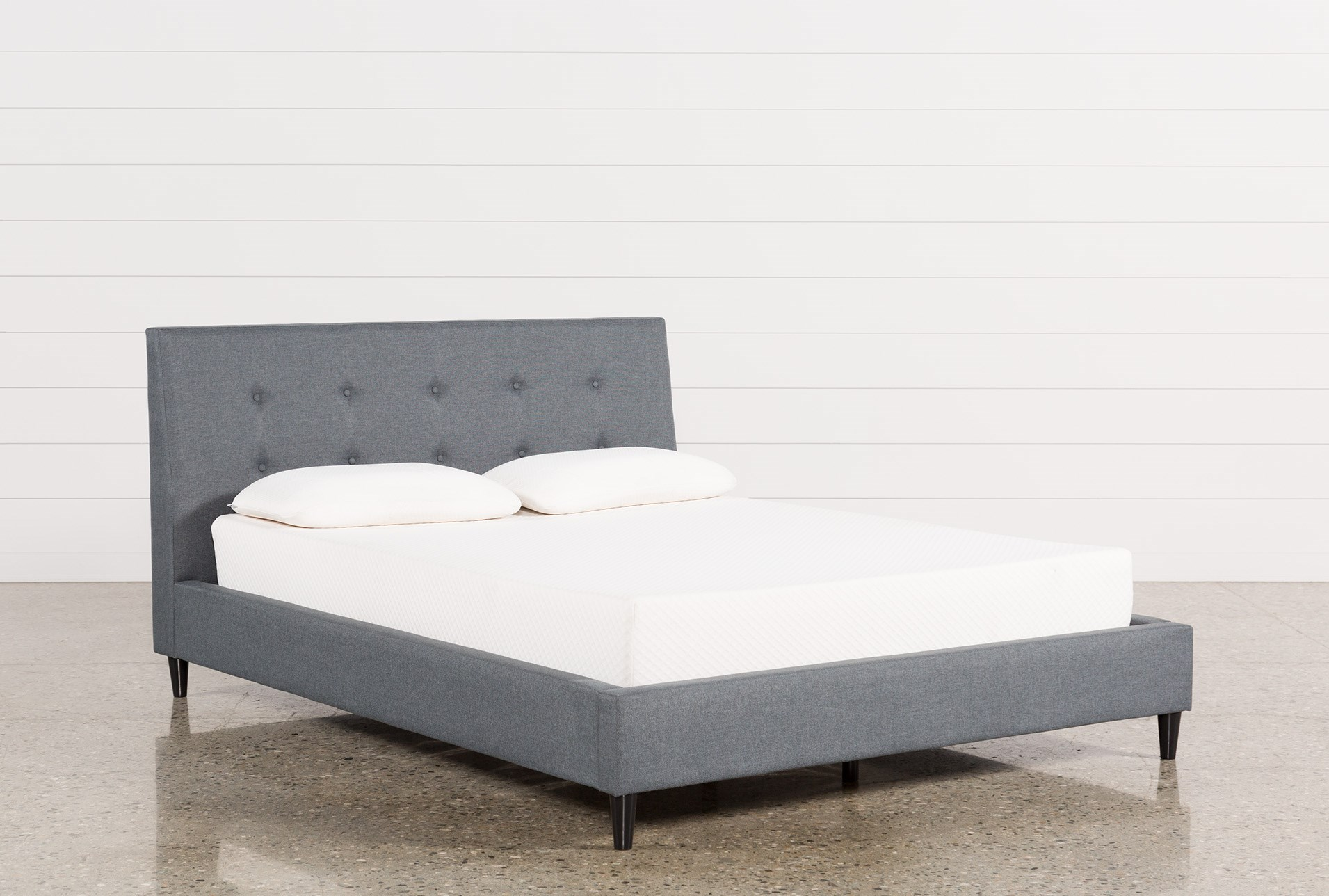 Kenneth Queen Upholstered Panel Bed | Living Spaces