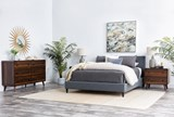 Kenneth California King Upholstered Panel Bed - Room