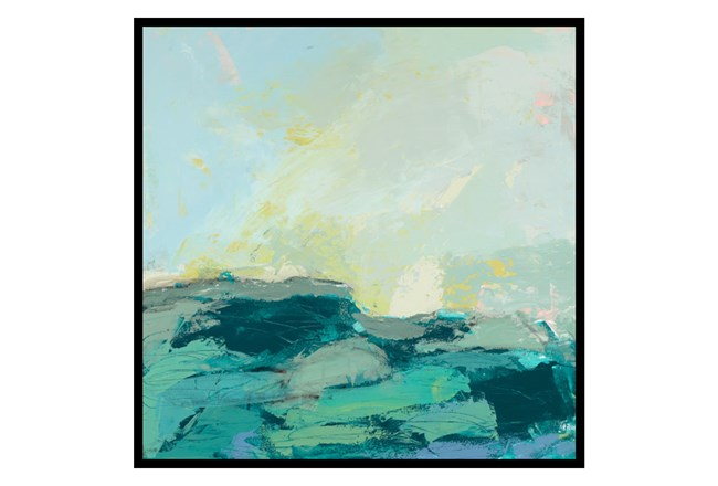 Picture-35X35 Teal Waves II - 360