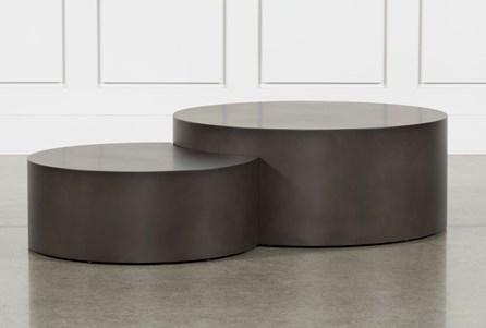 Waxed Metal Coffee Table