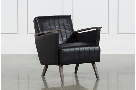 Bi Cast Leather Foam Oak Wood Chair - Main