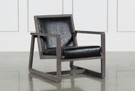Leather Oak Wood Chair