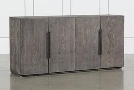 Burnt Oak Wood Sideboard