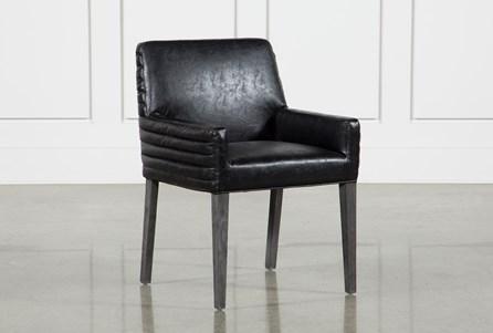 Black Aged Oak Foam Dining Chair