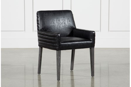 Black Aged Oak Foam Dining Chair - Main