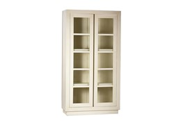 White Wood And Glass Cabinet