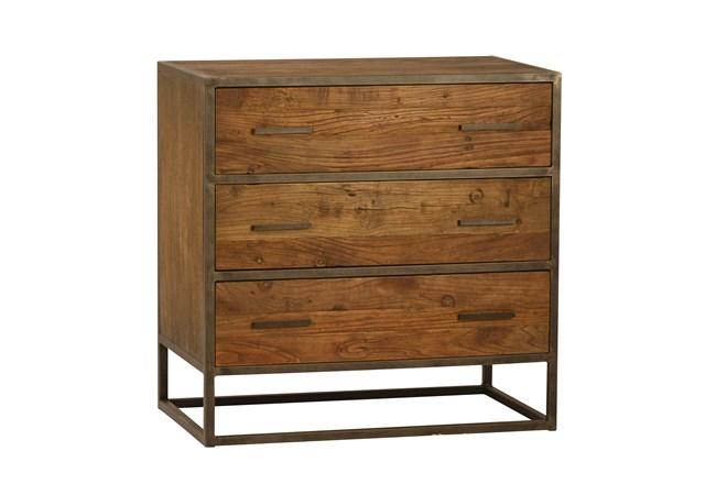 """Burnt Oak Metal 3-Drawer 30"""" Sideboard - 360"""