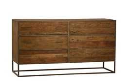 Burnt Oak Metal Sideboard