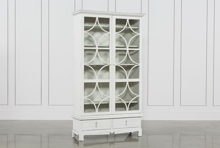 Tall White Pine Cabinet