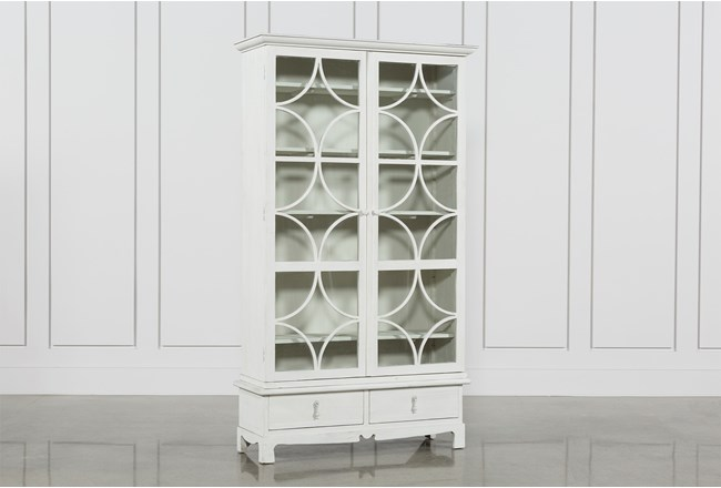 Tall White Pine Cabinet - 360