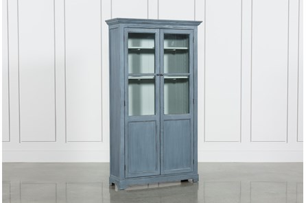 Recycled Pine Glass Cabinet - Main