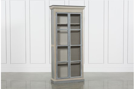 Recycled Pine Steel Cabinet - Main