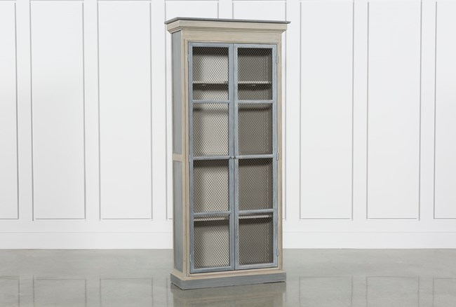 Recycled Pine Steel Cabinet - 360