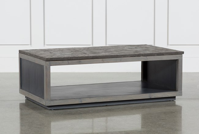 Recycled Pine Stone Coffee Table - 360