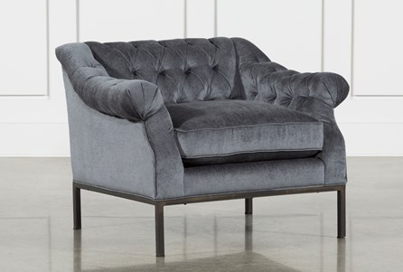 Charcoal Grey /Gunmetal Accent Chair