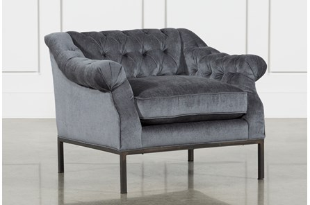Charcoal Grey /Gunmetal Accent Chair - Main