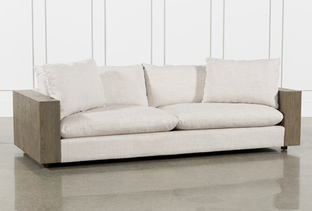 Heavy Linen/Monument Grey 98 Inch Sofa