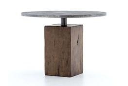 Light Gunmetal/Weathered Hickory Bistro Table