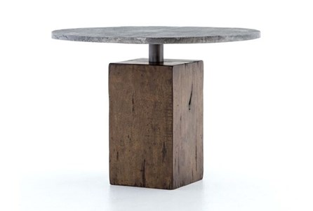 Light Gunmetal/Weathered Hickory Bistro Table