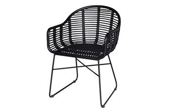 Black Wicker Chair