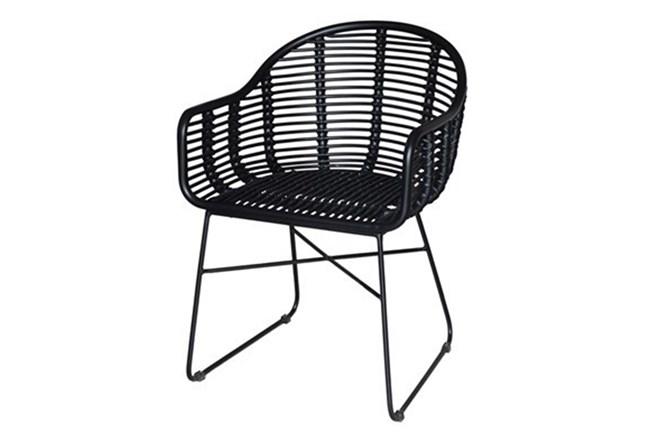 Black Wicker Chair - 360