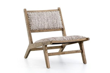 Smoked Weathered Oak Armless Accent Chair