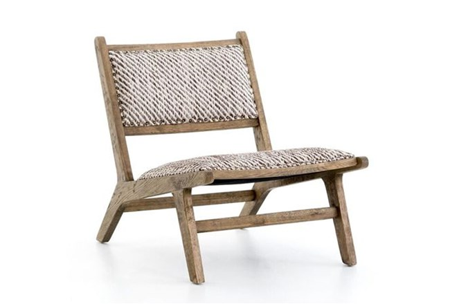 Smoked Weathered Oak Armless Accent Chair - 360