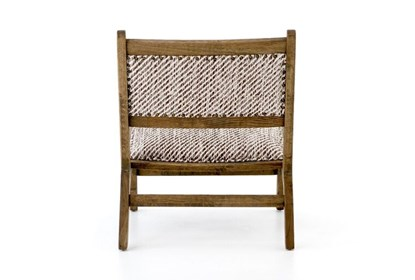 Peachy Smoked Weathered Oak Armless Accent Chair Onthecornerstone Fun Painted Chair Ideas Images Onthecornerstoneorg