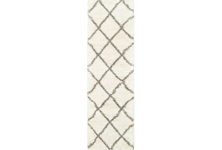 27X90 Rug-Beverly Shag Diamond Ivory