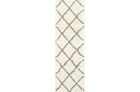 27X90 Rug-Beverly Shag Diamond Ivory - Main